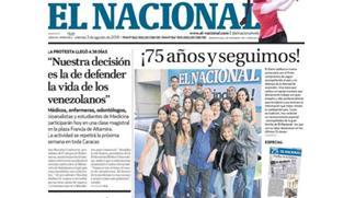 """Venezuela: """"El nacional"""" non sarà più in edicola"""