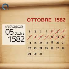 A.d. 1582  i giorni mai nati