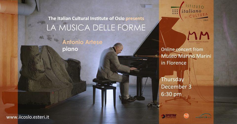 """Oslo, """"La musica delle forme"""" con Antonio Artese"""