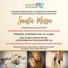 Sydney: messa di fine anno in italiano con il Comites