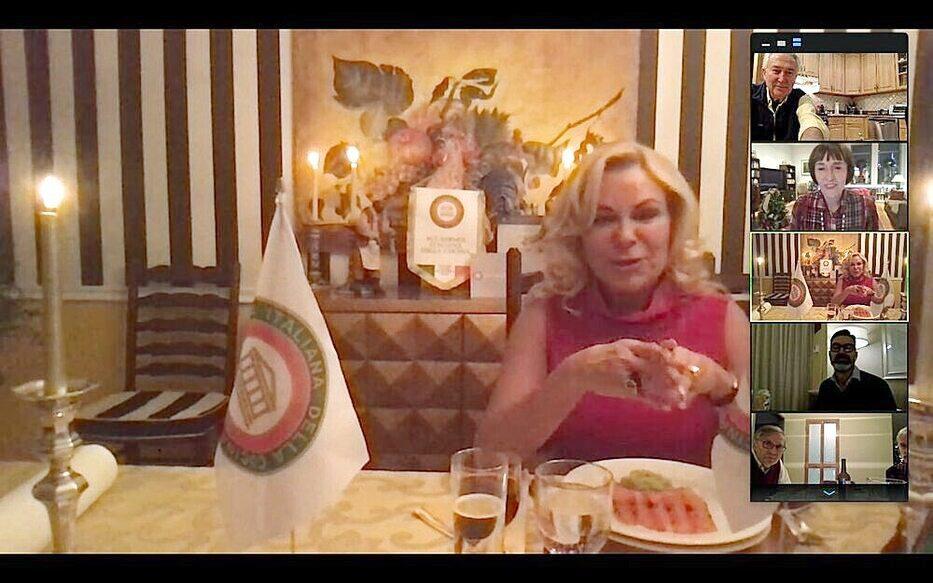 Cena virtuale di Roberta Marini con l'Accademia della Cucina di New York