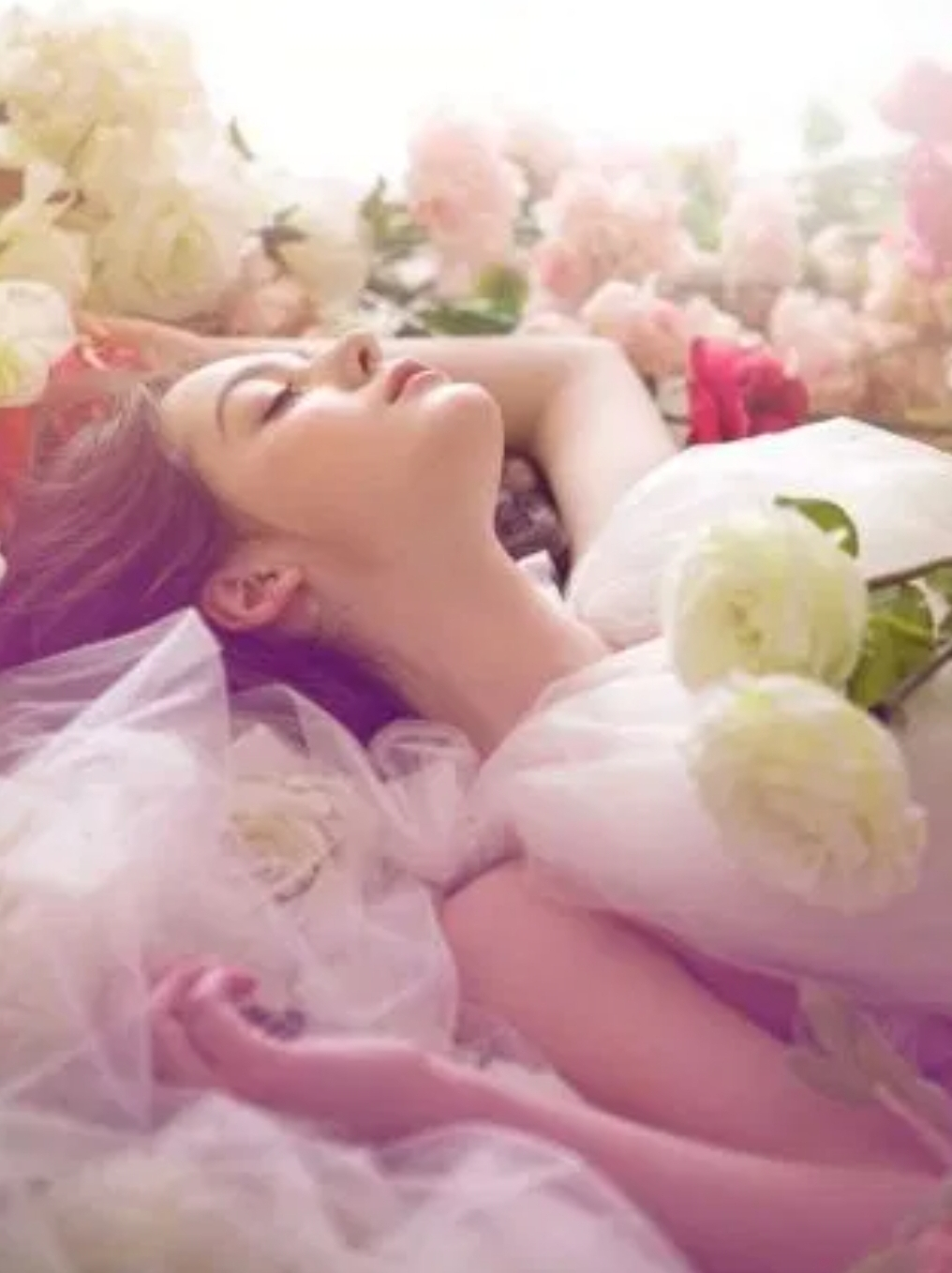 The woman are the flowers of springtime