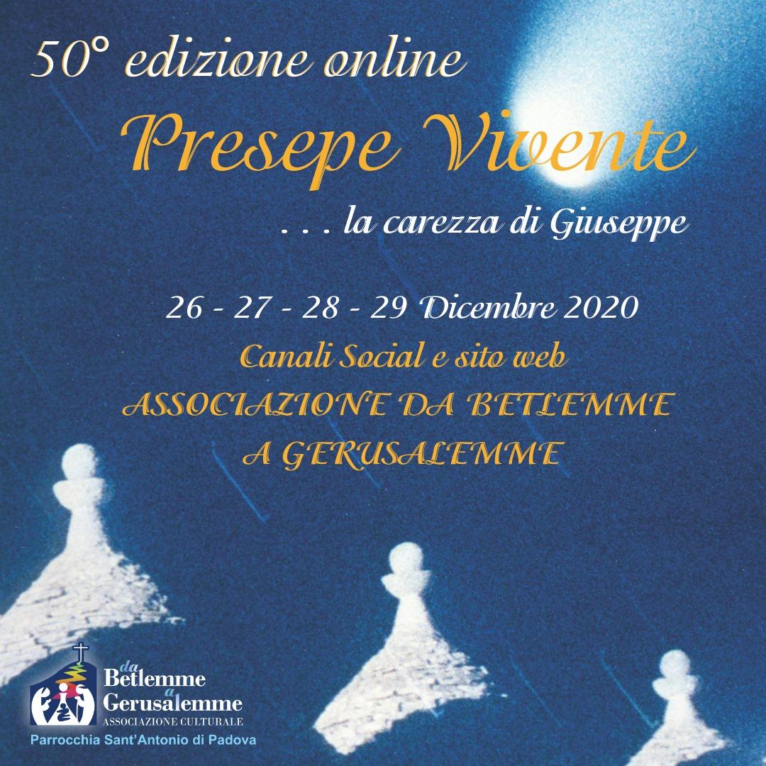 «Presepe Vivente», 50mo compleanno virtuale con un'edizione online