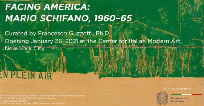"""""""Facin America """":Mario Schifano al Cima di NY"""