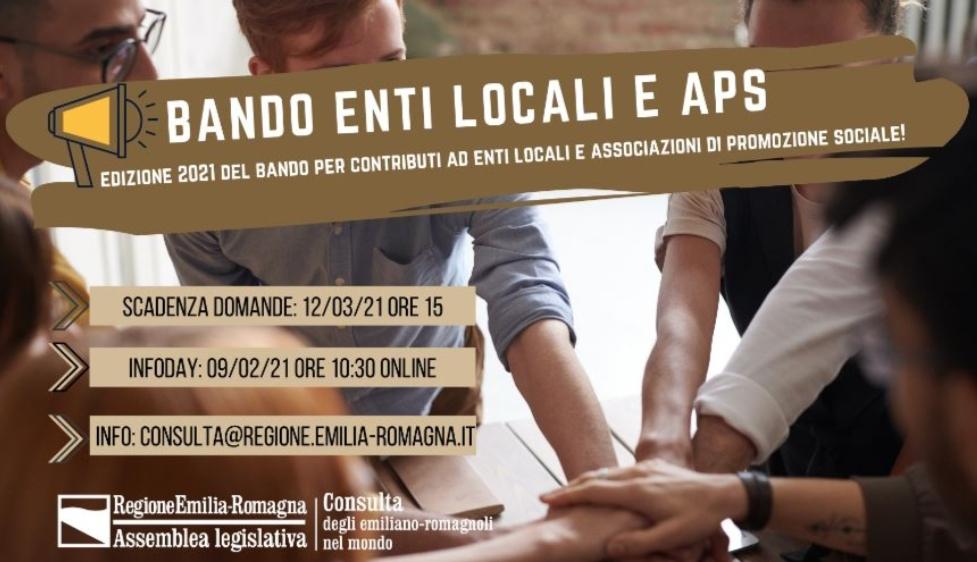 Bando Emiliano – Romagnoli nel mondo: il 9 febbraio info day della Consulta