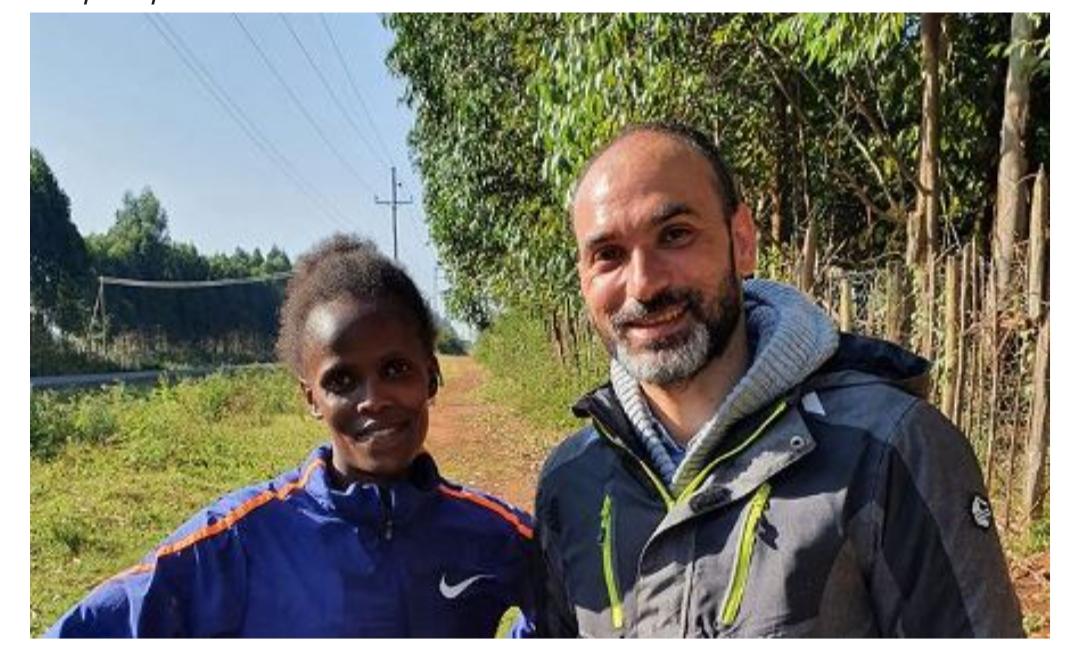 Il kenya di Sebastiano, terapista della campionessa