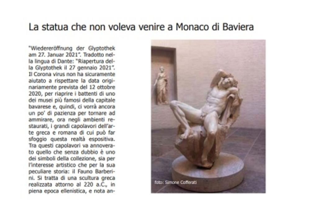 la statua che non voleva venire a Monaco di Baviera