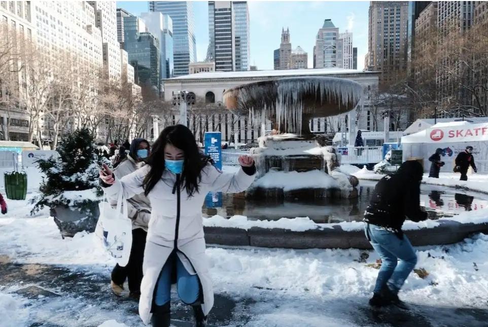 New York La tempesta polare che ha trasformato New York in una città fantasma