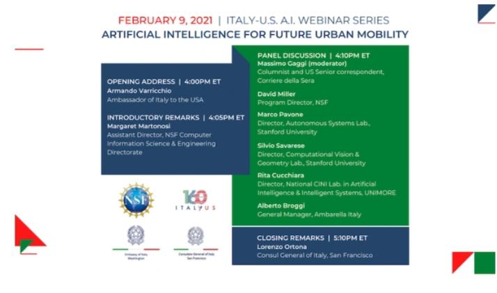 Intelligenza artificiale:al via i seminari organizzati dall'ambasciata d'Italia in Usa
