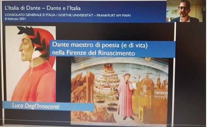 Dante e l'Italia:online la  5°videolezione del consolato generale a Francoforte