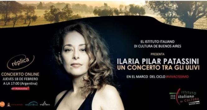 Un concerto tra gli ulivi:Ilaria Pilar Patassini di nuovo per l'IIC di Buenos Aires