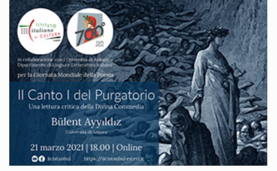 """La Turchia celebra Dante con una lettura """"critica""""del Purgatorio"""
