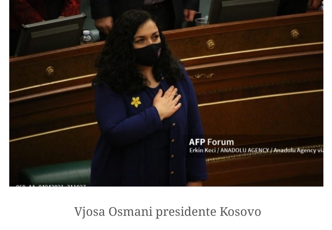 In Kosovo il Parlamento elegge presidente Vjosa Osmani