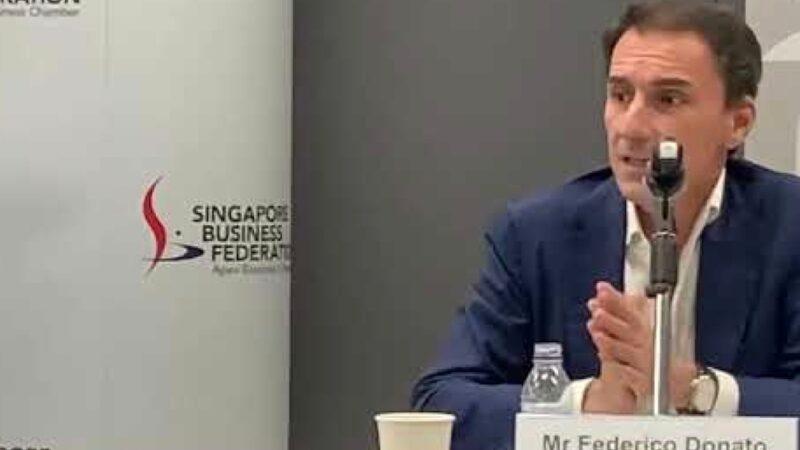 Federico Donato rieletto presidente della Camera di Commercio Europea a Singapore