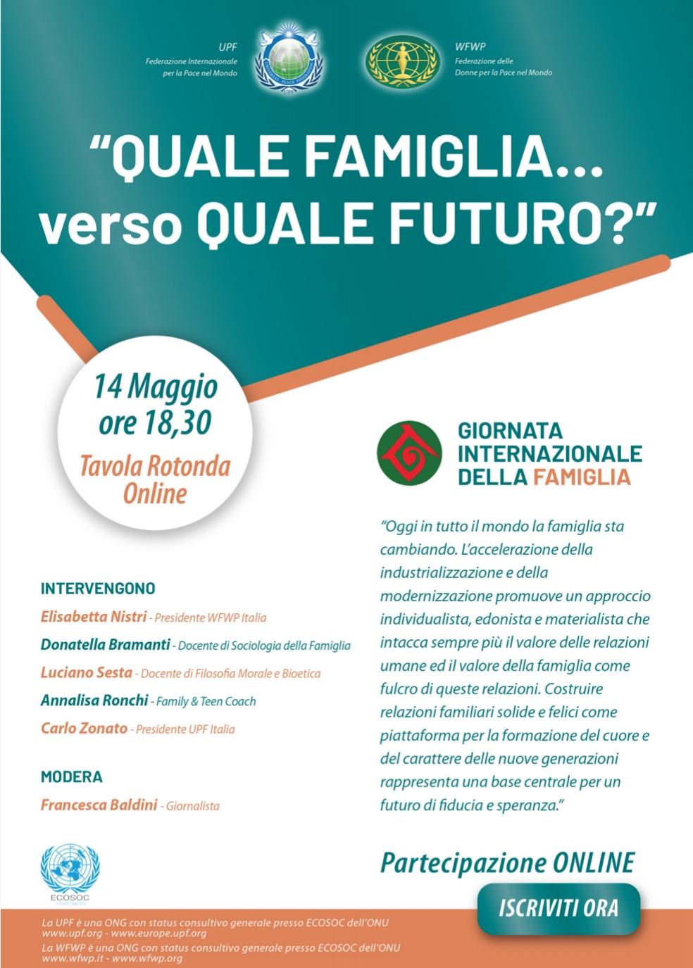 Giornata internazionale delle famiglie:verso quale futuro?