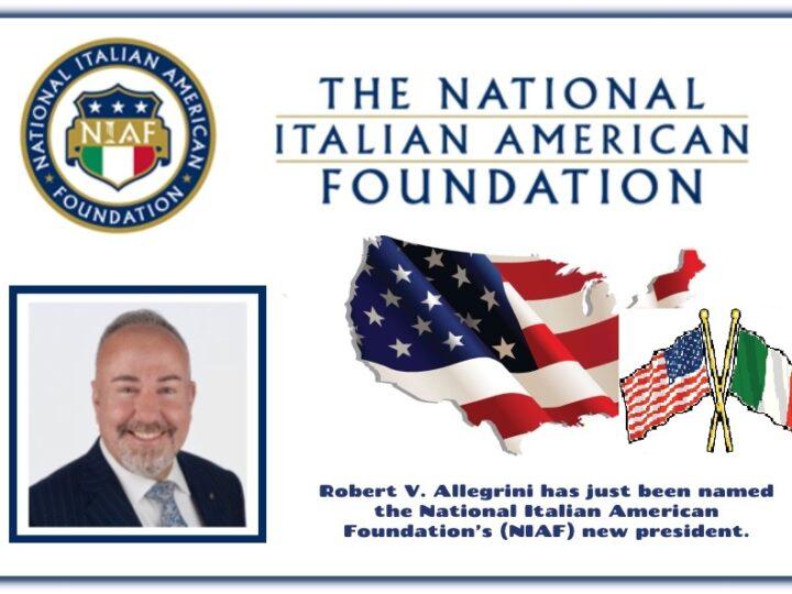 Il Dr. Robert Allegrini di Chicago  è il nuovo Presidente dalla NIAF