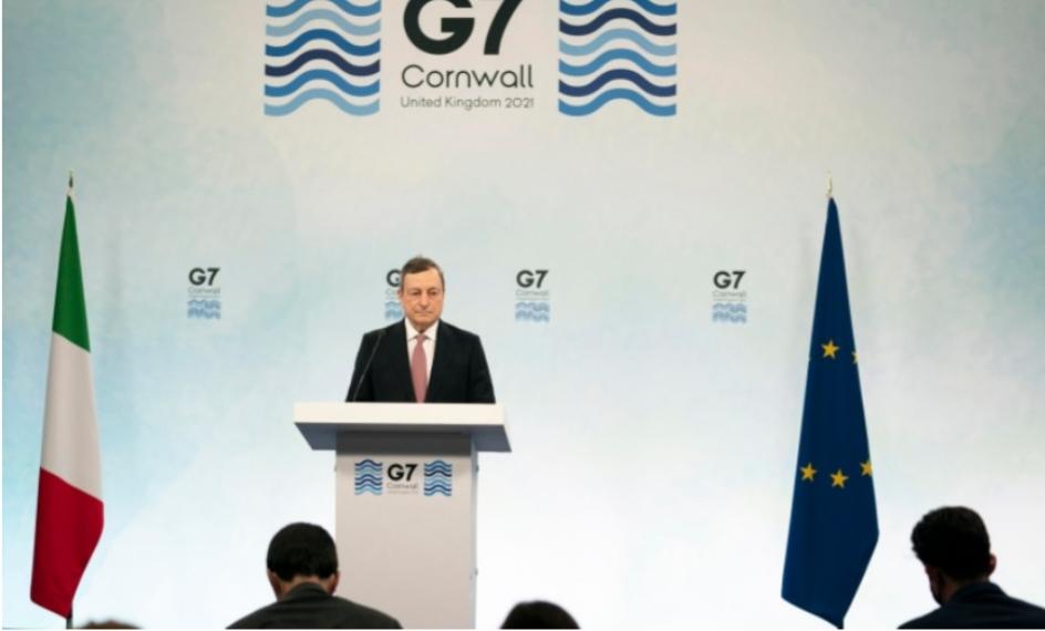 """G7. Draghi, con Biden riaffermato rapporto antico, con Trump alleanze """"seriamente incrinate"""""""