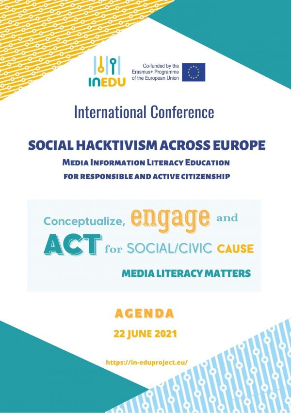 """Il 22 giugno 2021 a Perugia la Conferenza Internazionale: """"Social Hacktivism across Europe. Educazione all'uso consapevole dei media"""""""