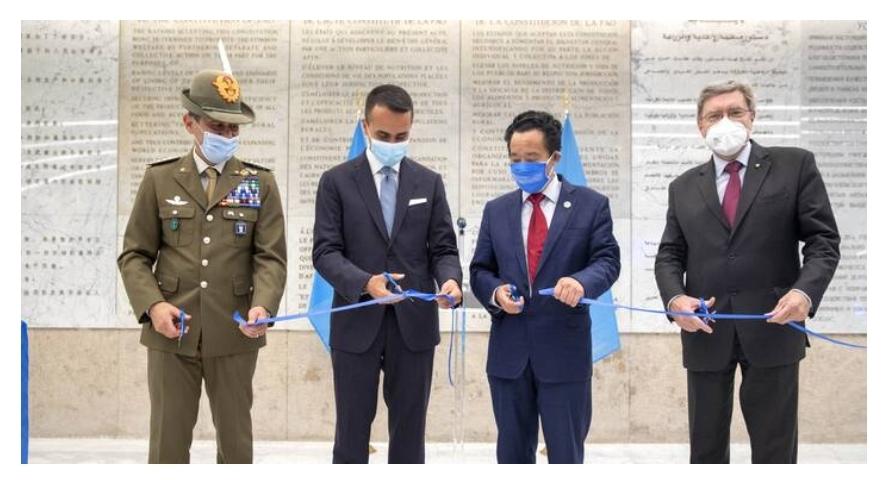 FAO e Italia inaugurano la sede rinnovata dell'Agenzia ONU
