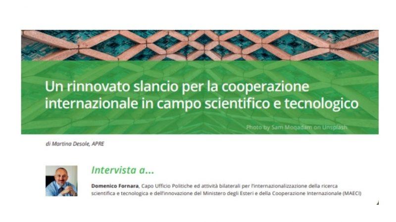 Fornara (Maeci): il futuro è nella cooperazione scientifica e tecnologica tra Stati
