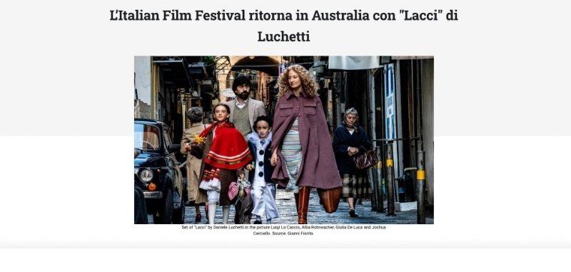 """L'Italian Film Festival ritorna in Australia con """"Lacci"""" di Luchetti"""