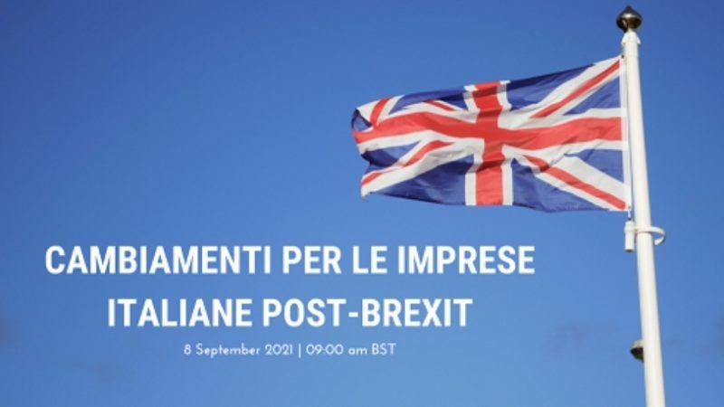 Cambiamenti per le imprese italiane post-Brexit: l'8 settembre il webinar della CciUk