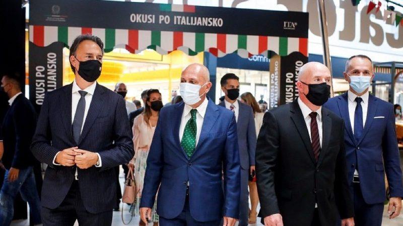 """Per un mese i prodotti alimentari italiani alla ribalta in Slovenia: l'ambasciatore Campanile inaugura """"Sapori all'italiana"""""""
