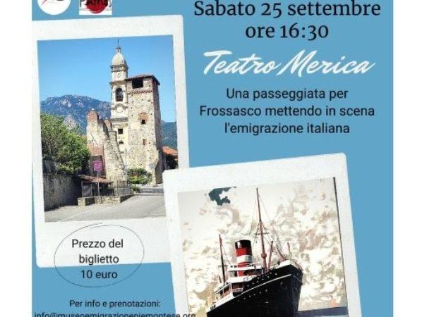 Frossasco: il Teatro Merica al Museo dell'Emigrazione