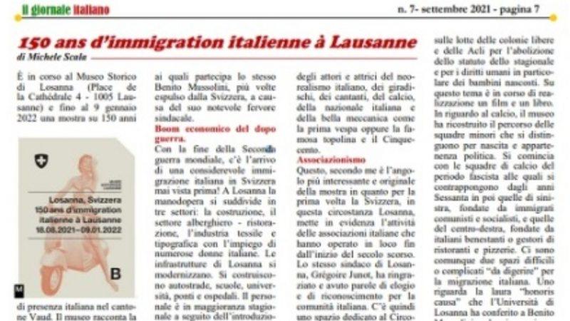 150 ans d'immigration italienne à Lausanne