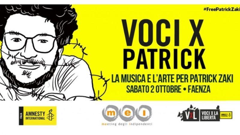 """""""Voci X Patrick"""": a Faenza musica e arte per Patrick Zaki"""